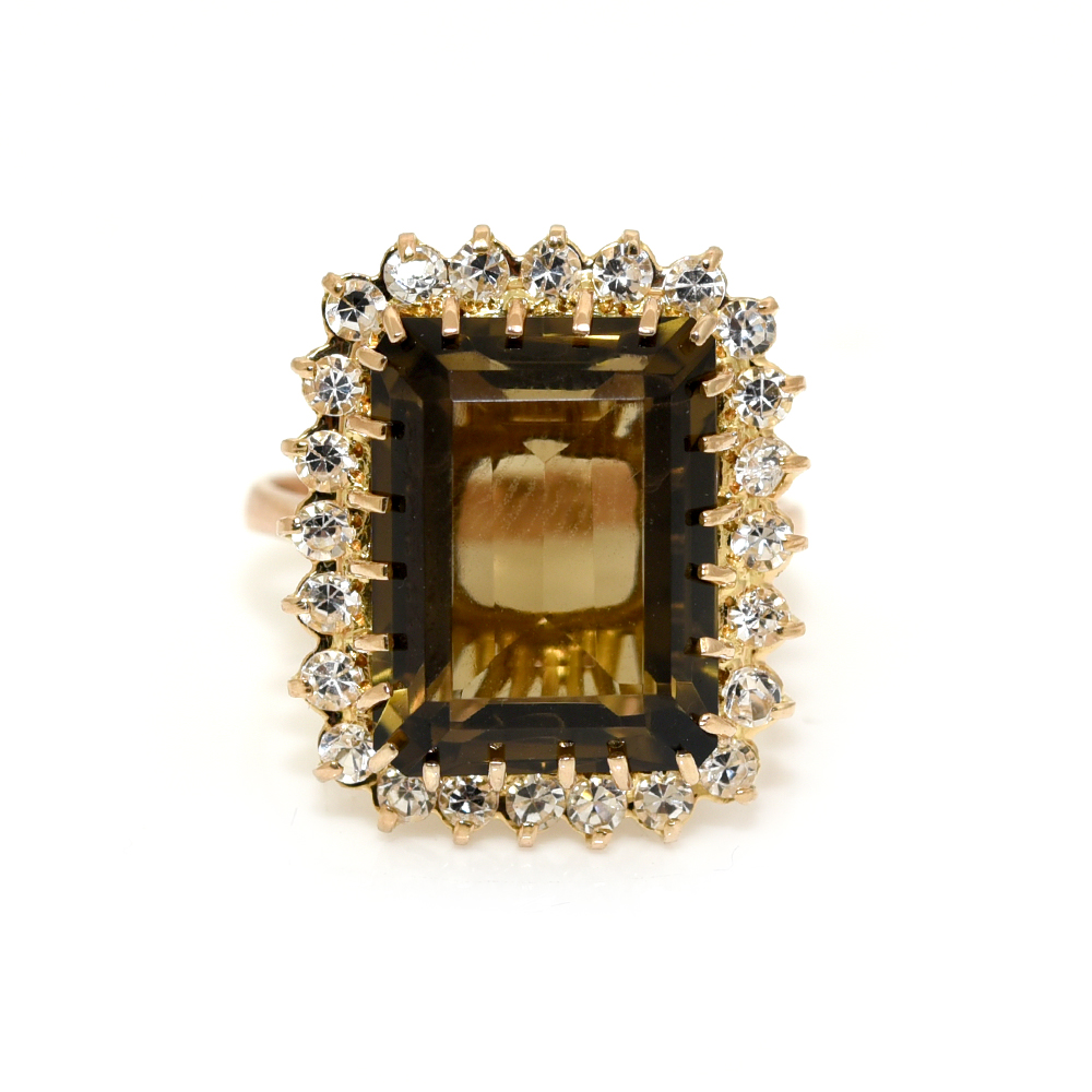 8ae5307ff Smokey Quartz & Crystal Statement Ring. Dear ______, Apparently ______ has  been daydreaming about this and we thought you would definitely want to  know.
